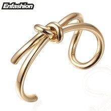 Enfashion nudo pulsera noeud knoop brazalete chapado en oro brazalete de la pulsera para las mujeres cuff pulseras brazaletes pulseiras manchette