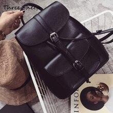 Женщины рюкзак простая повседневная школьная сумка Средний Размеры Кожа PU Рюкзак для девочек ежедневно сумка Mochila Mujer