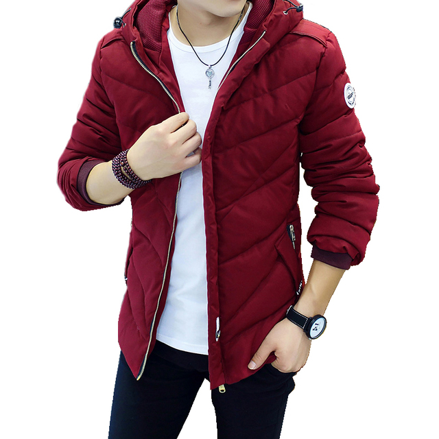 Big Promo Winter Jacket Men Casual New Hooded Thick Padded Jacket Zipper Slim Men And Women Coats Men Parkas Outwear Warm Coat 543