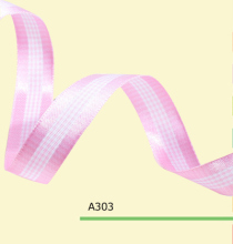 100yards roll 1 5 Inch 38mm Pink And White Tartan Plaid Ribbon