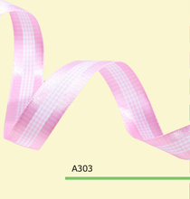 100yards/roll 1.5 Inch(38mm) Pink And White Tartan Plaid Ribbon