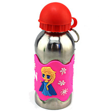 Freies Verschiffen Kinder Wasserflasche 3D Geprägte Multicolor Cartoon 304 Edelstahl Schule kinder Reisewasserkocher Drink