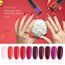 CHE GEL Aunt Red UV Gel Polish Coat Soak Off Nail Varnish Phototherapy UV Nail Gel