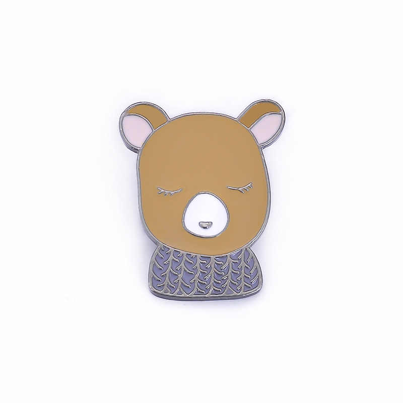 Cute Cartoon Animale Spille per Le Donne Creative Volpe Coniglio Orso Cervo Dei Monili Dello Smalto Spille Giubbotti jeans Collare Distintivo Spilli Pulsante