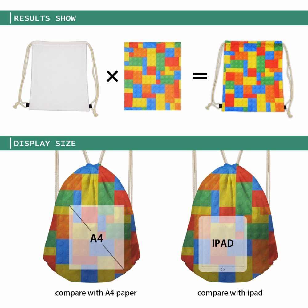 Women 3d Bear School Skull Black Fear Cool Draw string Bags for Kids Couple  Lover Shoe Backpack Pocket String Storage Rucksack