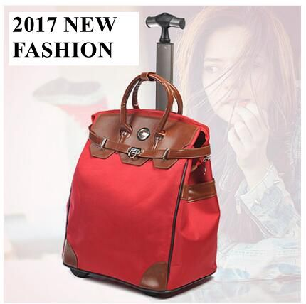 Luxury Brand 22 inch Women Travel Luggage Bag Boarding bag Trolley Suitcase rolling luggage Bag Baggage suitcase on wheels
