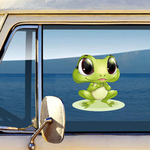 New Arrival 3d Frogs Funny Car Stickers Car Styling Vinyl Decal Waterproof Truck Window Decal Graphics Sticker Decorative car styling 3d car stickers funny auto ball hits car body window sticker self adhesive baseball tennis decal accessories