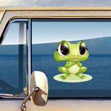 New Arrival 3d żaby śmieszne naklejki samochodowe winyl do stylizacji samochodu naklejka wodoodporne okno samochodowe naklejka naklejka z obrazkiem dekoracyjne