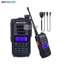 Nktech радио comunicador уф-82 плюс против baofeng walkie talkie двухстороннее хэм приемопередатчик band 136-174/400-520mh + mic + cd
