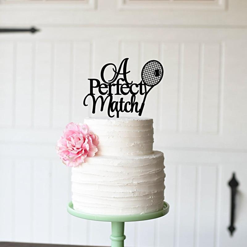 Tennis Wedding Cake Topper A Perfect Match Cake Topper ...