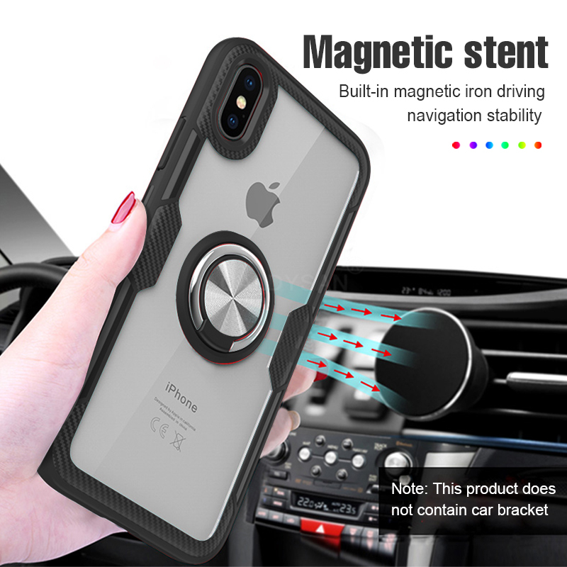 Luxury Car Holder Ring Case On The For IPhone XS Max XR X Phone Case Cover For IPhone XR 11 Pro XS Max Soft Silicone Bumper Case