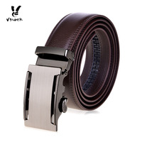 High End Genuine Top Level Cowhide Belt With Automatic Buckle Brown