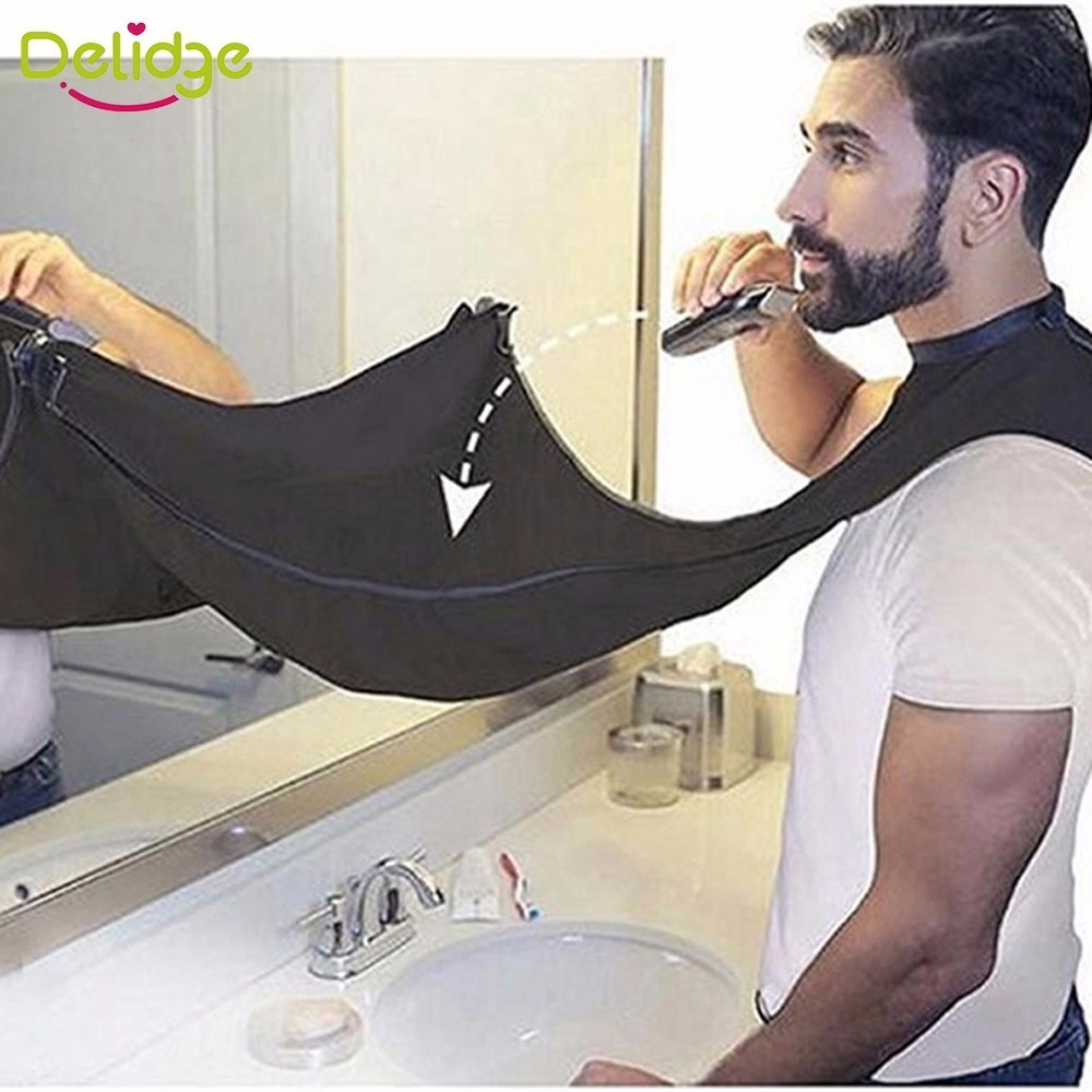 1 Pc Beard Care Shave Apron Bib Trimmer Clean Facial Woman Hair Cape Sink Shelves Waterproof Floral Cloth