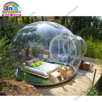 4M Diameter Commercial Outdoor Camping Inflatable Clear Lawn Bubble Tent For Sale