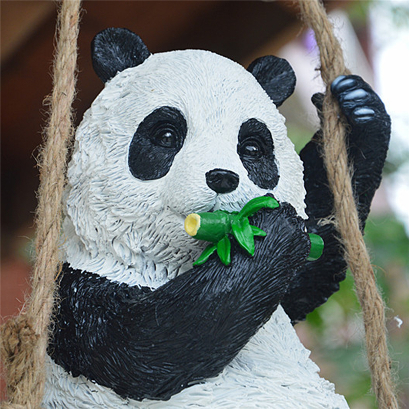 1Pc Cute Resin Simulation Swing Panda Ornament For House Garden Yard Lawn  Decoration 29*19*30cm In Garden Statues U0026 Sculptures From Home U0026 Garden On  ...