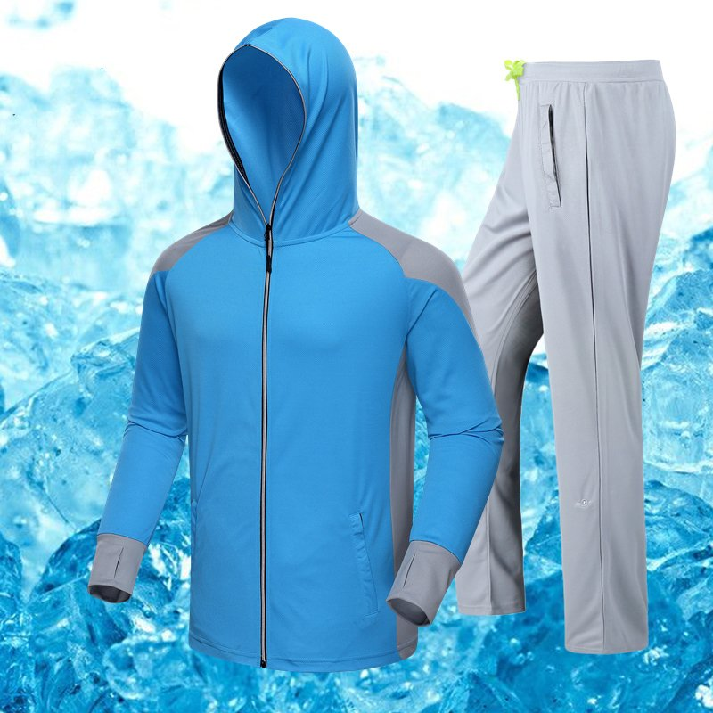 ФОТО Outdoor fishing suit summer breathable anti-mosquito sunscreen men's ultra-thin quick-drying fishing pants
