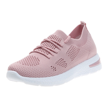 YeddaMavis Mesh Sneakers Women Shoes 2019 Summer Fashion Breathable Lace Up Running Shoes Casual Shoes Woman Zapatos De Mujer недорого