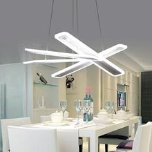 ФОТО   modern led pendant lights for dining room living room Rectangle Acrylic led pendant lamp fixture lamparas modernas