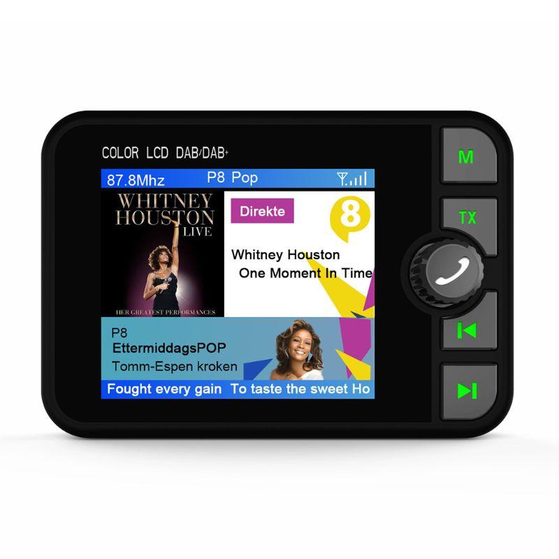Nouveau Mini adaptateur récepteur Radio numérique DAB coloré écran LCD Bluetooth MP3 FM transmetteur pour accessoires de voiture qyh