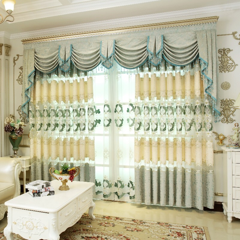 cortinas de chenilla bordado mosaico para living comedor dormitorio villa de coreachina mainland