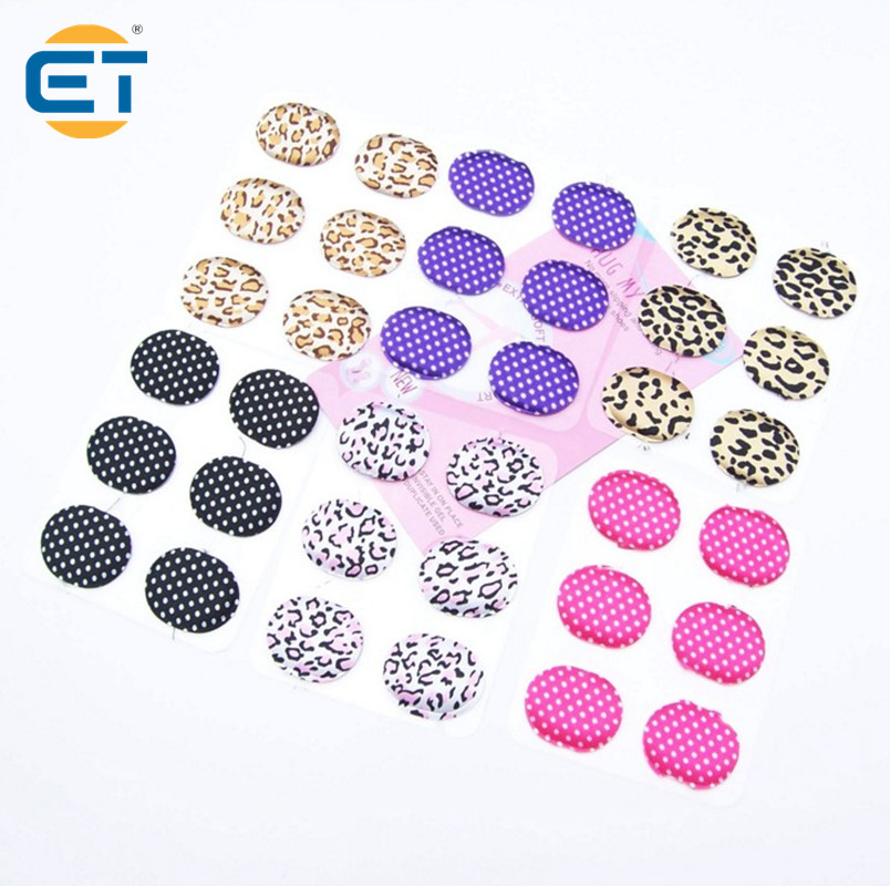 24pcs Mini Round Insoles Shoes Care Silicone Cloth Cushion Pad Heel Stickers Anti-Pain Relief Foot Care Inserts