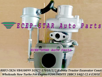 TD03L RHF3 CK26 VB410099 1G923-17010 1G923-17012 1G923-17013 CK30 Turbo para Kubota Tractor excavadora construcción V2003MDITE