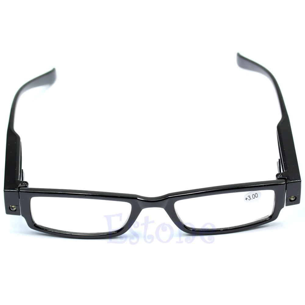 <font><b>1</b></font> PC Multi Strength Reading <font><b>Glasses</b></font> Eyeglass Spectacle Diopter Magnifier LED Light UP Christmas Gifts #J image