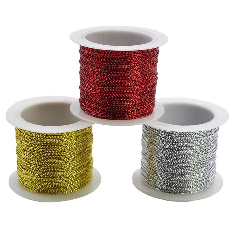 20 meter 1mm Seil Gold Silber Rot Schnur Gewinde String Strap Band Seil Tag Linie Armband, Der Keine- slip Kleidung Geschenk Decor