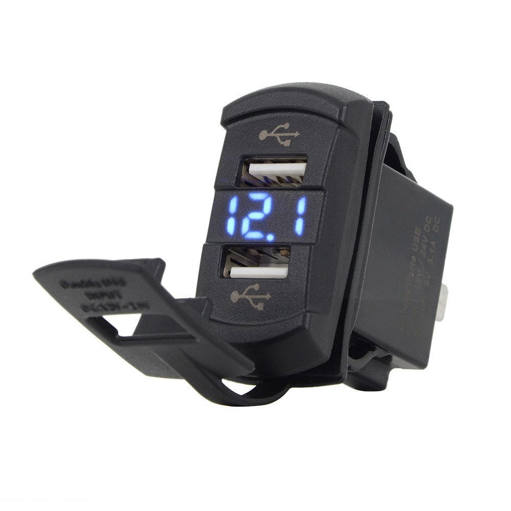 Durable 12V Dual USB Car Motorcycle Cigarette Lighter Socket Splitter Power Adapter outlet power Mobile Phone Charger