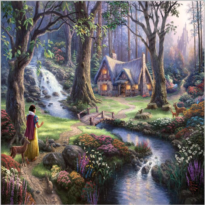 10x10ft Snow White Princess Fairy Animals Deer Forest