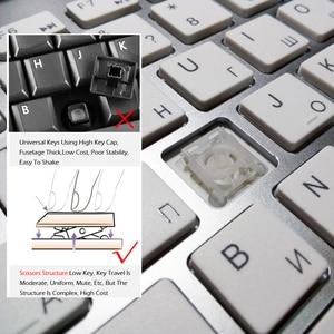 Image 3 - NVAHVA clavier sans fil Ultra fin 101 touches 2.4 ghz, clavier sans fil, pour boîtier Android TV Mac Win XP 7 10
