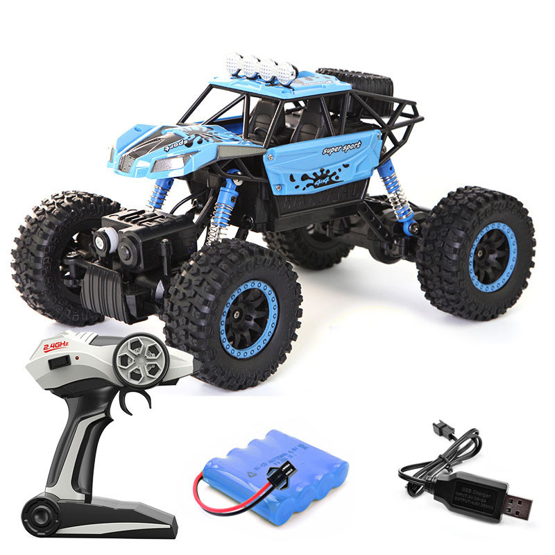2.4G Diy RC Car Kit Remote Control Car Toys RC Crawler 4WD Off-road Buggy Brushed Electric RTR Bigfoot Remote Car Kids Toys Boys free shipping wltoys a232 1 24 2 4g electric brushed 4wd rtr rc car off road buggy xmas gifts rc toys kid s toys gift