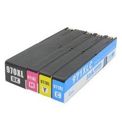 BK C M Y dla 970XL 971XL 970 971 XL pełny pojemnik z tuszem do Officejet Pro X576dw X451dn X451dw X476dw x476dn X551dw drukarki