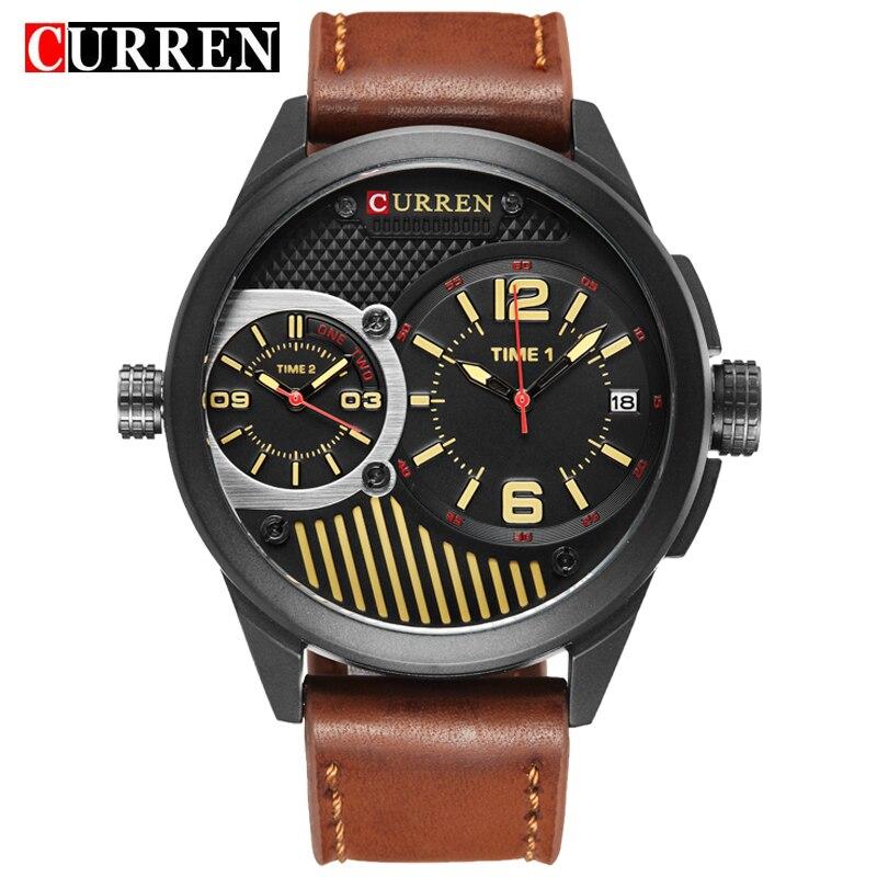 Curren 8249 Watches Men Top Brand Luxury Cow Quartz-Watches Sport Men's Watches Waterproof Relogio Heren Hodinky