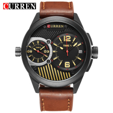 Curren 8249 Watches Men Top Brand Luxury Cow Quartz-Watches Sport Men's Watches Waterproof Relogio Heren Hodinky