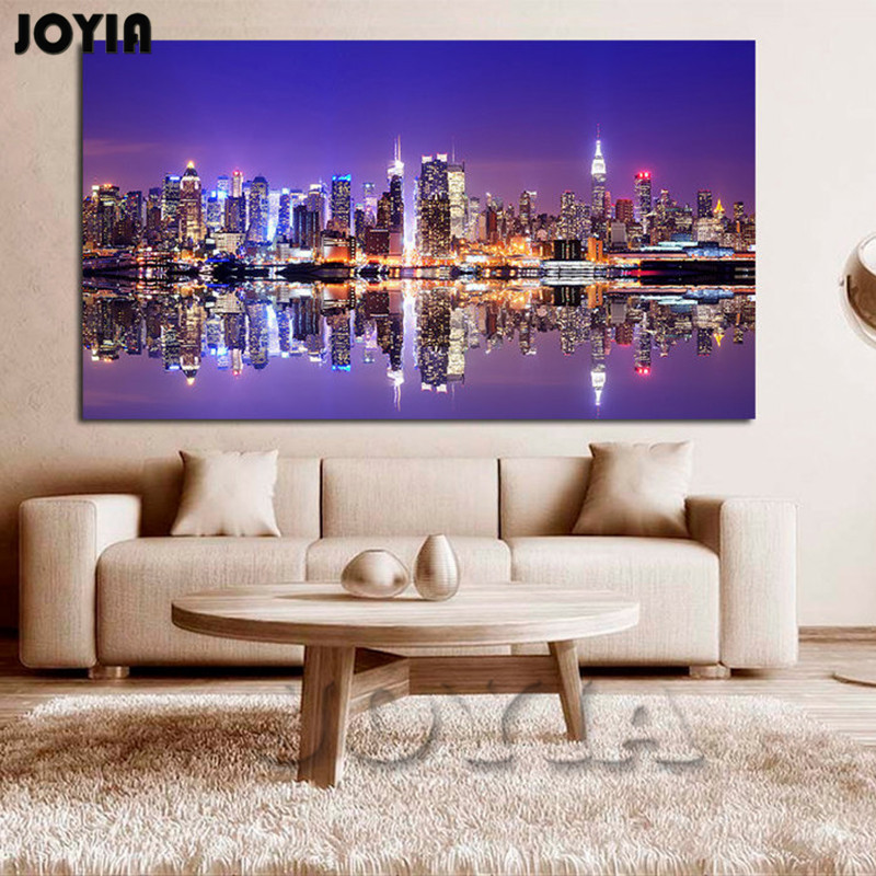 Home Decoration New York Canvas Wall Art Set Cityscape Canvas Print City Skyline Wall Decor Paintings Posters No Frame-in Painting u0026 Calligraphy from Home ... & Home Decoration New York Canvas Wall Art Set Cityscape Canvas Print ...