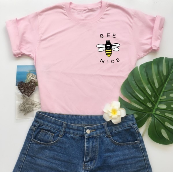Bee Nice Printed Women's Casual T Shirt
