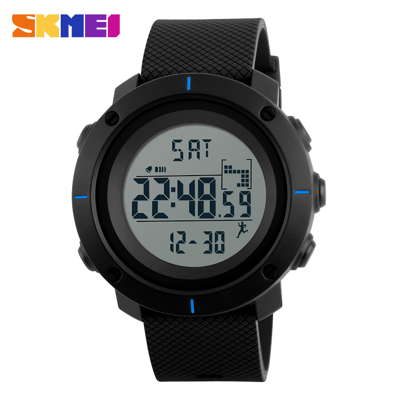 SKMEI Men Sports Watches Pedometer Calories Digital Wristwatches Chrono Back Light Repeater Waterproof Relogio Masculino 1215