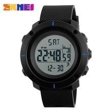 SKMEI Hombres Deportes Relojes de Pulsera de Calorías Podómetro Digital Chrono Back Light Reloj Impermeable Relogio masculino 1215