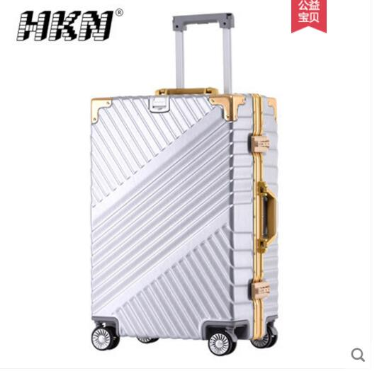 Luggage pull rod suitcase, aluminum frame, Korean version, password box, retro student Pi Xiangzi cartoon cute pull rod box college student luggage small fresh luggage box korean version password box