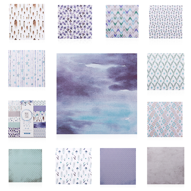 Fashion Varied 24 Sheets 6 Inch Scrapbooking Pads Paper Origami Art Background Paper Card Making DIY Scrapbooking Paper Crafts