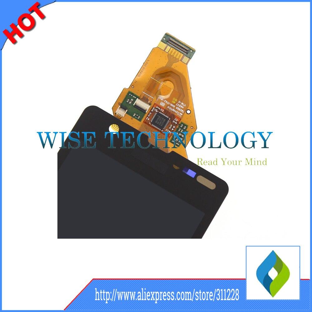 Hq negro 4.6 pulgadas para sony xperia zr m36h c5502 c5503 LCD Con Panel de Pant