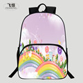 FEIHENG Brand New Polyester 16 Inch Printing Rainbow Chinese Style Boys Student Bag Kids Baby School Bags Children Backpack Girl