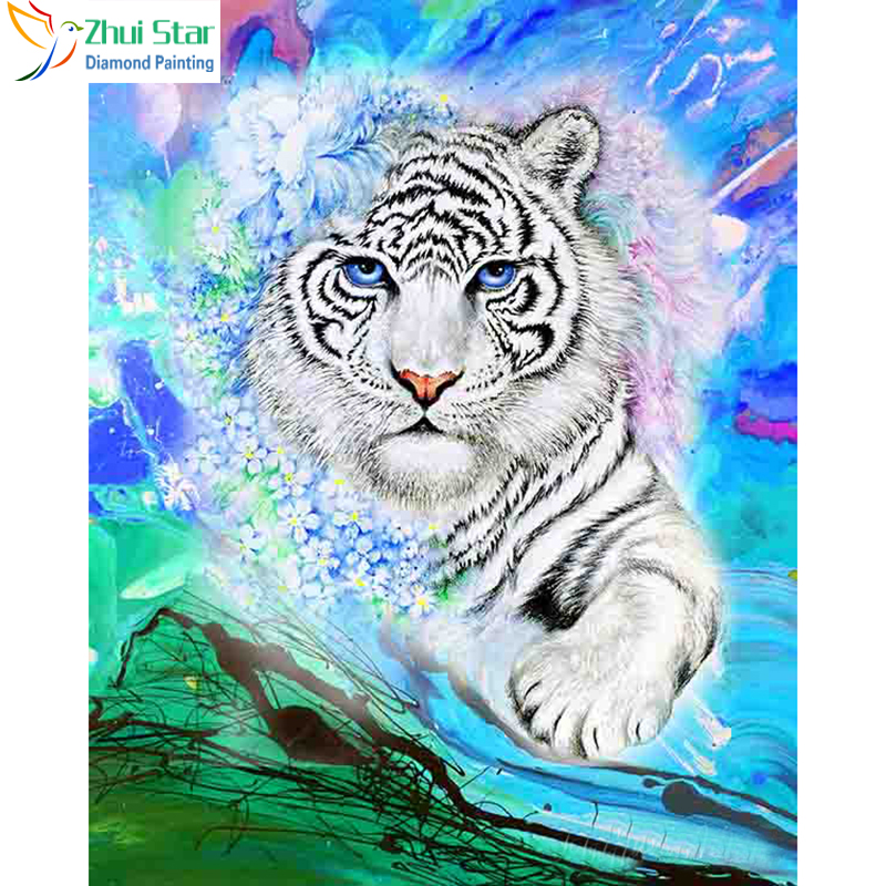 Home & Garden New 5d Diy Diamond Painting Snow Tiger Embroidery Full Square Diamond Cross Stitch Rhinestone Mosaic Painting Home Decor Gift Arts,crafts & Sewing