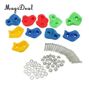 10Pcs Climbing Frame Mixed Color Rock Climbing Wall Stones Hand Feet Holds Grip Hardware Kits for Kids Chidren Outdoor Fun Toys - DISCOUNT ITEM  50 OFF Toys & Hobbies