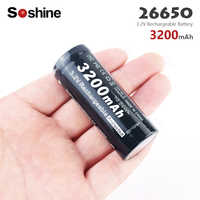 Hot new Soshine 3200mAh LiFePO4 26650 Protected Battery 3.2V Rechargeable lithium continuous dedicated power battery For Torch
