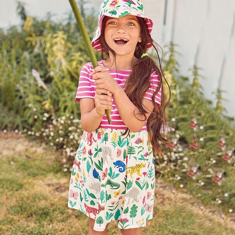 Summer Dress Girl 2018 Brand Casual Kids Costume for Girls Dresses Cotton Short Sleeve Baby Girl Clothes Disfraz Infantil 2018 brand summer girls cotton casual