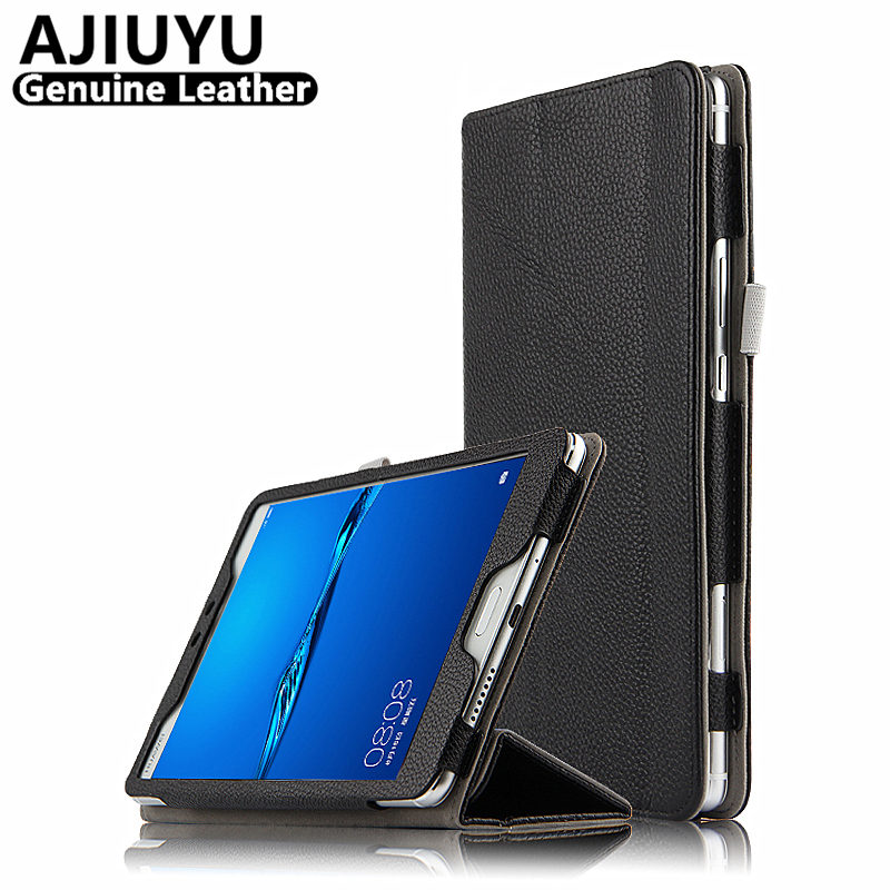 Genuine Leather For Huawei MediaPad M3 lite 8 Case Cover M3 lite 8.0 Case Cowhide Protective Protector CPN-L09 W09 AL00 Tablet crystal protective case for nds lite