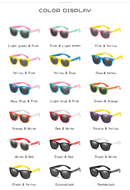 Mirror Kids Sunglasses with Case Boys Girls Polarized Silicone Safety Sun Glasses Gift For Children Baby UV400 Gafas