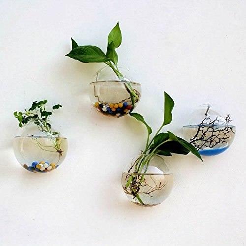 Popular Mkono Wall Mounted Glass Vase Wall Hanging Planter Plant Flower  NX91